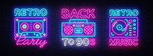 Back To 90s Neon Poster Collec...
