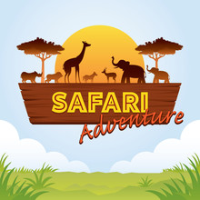 African Safari Adventure Sign ...