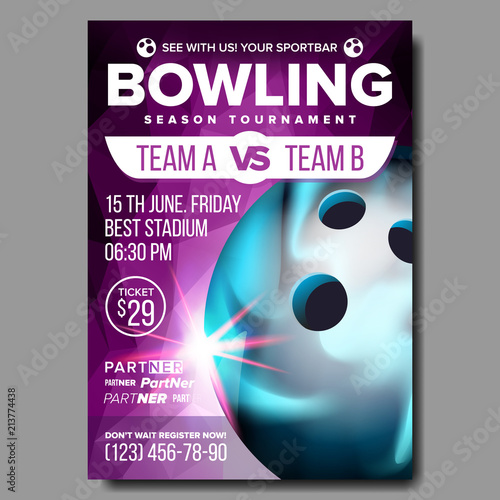 Photo  Bowling Poster Vector