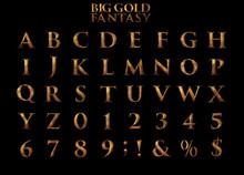 Big Gold Fantasy Alphabet 3D I...