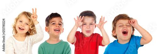 Fotomural Children doing joke and laughing