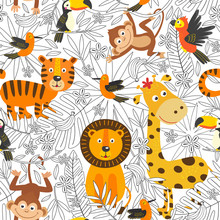 Seamless Pattern With Coloring...