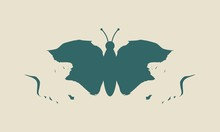 A Butterfly Or Two Face Profil...
