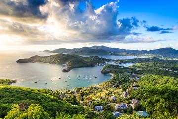 Zalazak sunca u engleskoj luci, Antigva Barbuda, Karibi