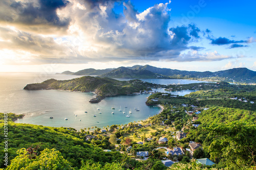 Sunset at English Harbor, Antigua Barbuda, Caribbean Canvas Print
