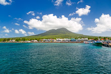 Mount Nevis From Sea, St Kitts...