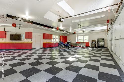 Fotografie, Tablou Spacious modern garage interior