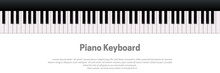 Piano Keyboard Isolated On Whi...