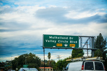 Mulholland Drive Exit Sign In ...
