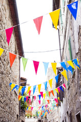 Multicolored festive buntin...