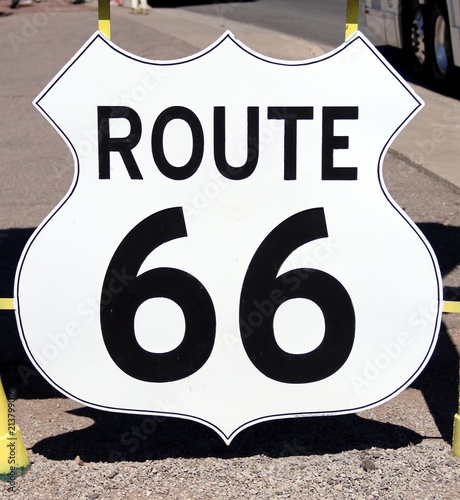 Sign of old Route 66 – USA