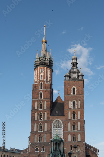 Tuinposter Krakau Krakow Cathedral on square in Old Town