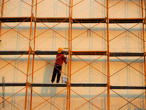 Fotografia, Obraz Man Working on the Working at height