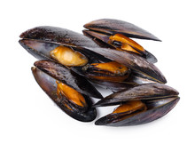 Cooked Mussels Close-up