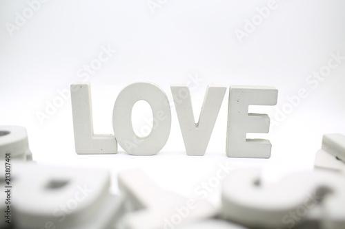 Fotografia, Obraz  Love word block