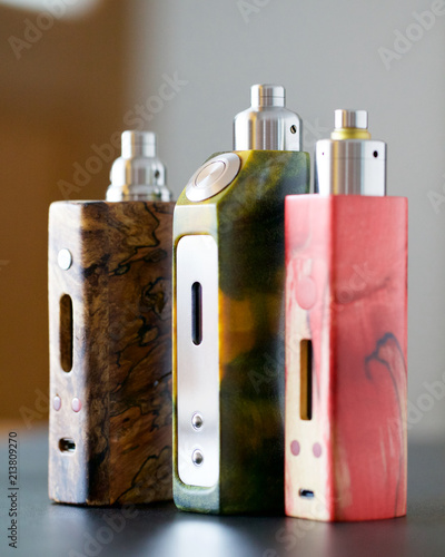 high end stabilized wood regulated box mods with rebuildable