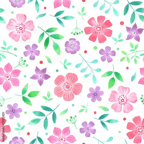 akwarela-bezszwowe-kwiatowy-wzor-z-kwiatow-i-lisci