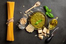 Pesto Sauce In A Bowl