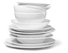 Stack Of Dishes And Bowls