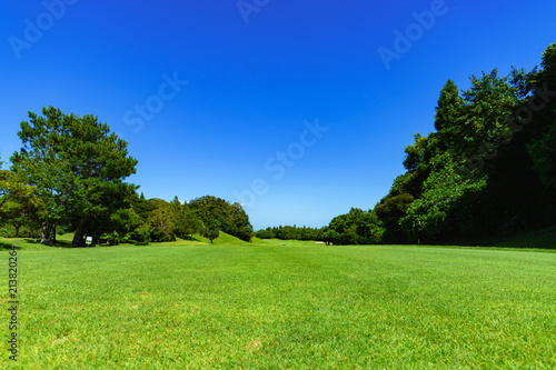landscape of japanese golf course in chiba (No1841)