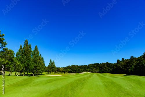 landscape of japanese golf course in chiba (No1851) Fototapeta