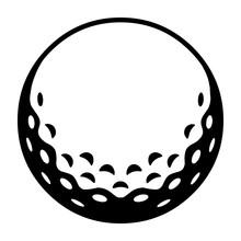 Golfball / Schwarz-weiß / Vek...