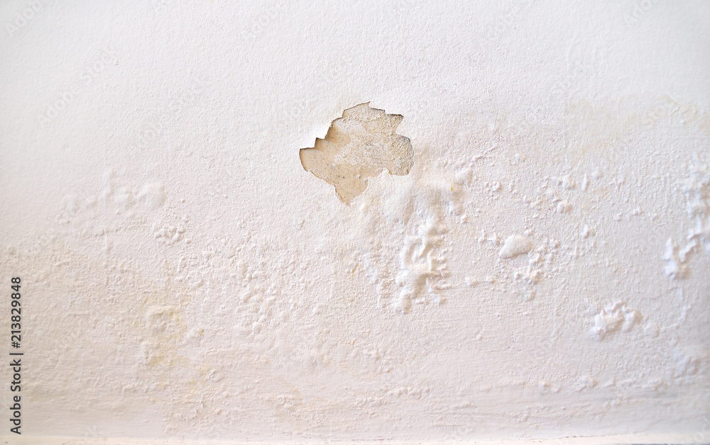 Fototapeta wet wall white