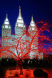 Salt Lake City Mormon LDS Latter-day Saint Temple for Religion Christmas Lights