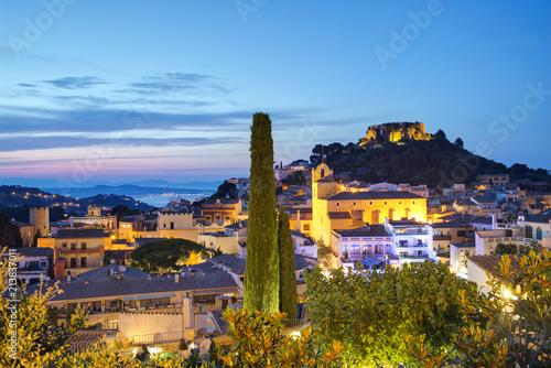 Obraz na plátně Begur, Costa Brava, katalonien, Spanien: am Abend.