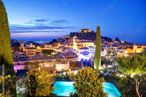 Begur, Costa Brava, Katalonien, Spanien am Abend