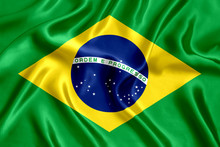 Flag Of Brazil Silk