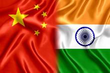 Flag India And China Silk