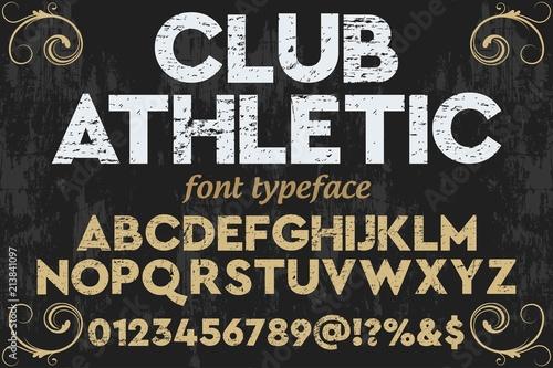 Obraz vintage font typeface handcrafted vector named gray wolf vintage font typeface handcrafted vector - fototapety do salonu