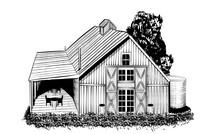 Vintage Barn Vector Illustra...