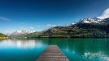 Landing Stage At A Lake In The...