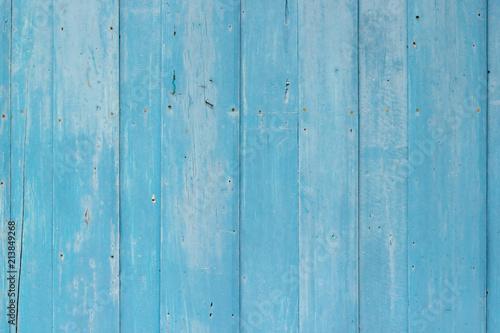Foto op Plexiglas koffiebar Blue wood textured wall background.