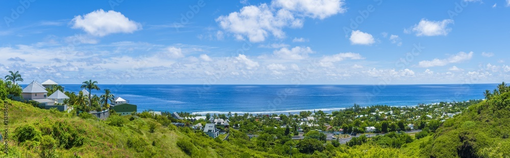 Fototapeta Saint Gilles coast of Reunion Island,  France