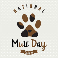 National Mutt Day Card Or Back...