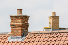 Brick Chimney Stack On Modern ...