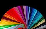 Fototapeta Tęcza - Color palette - guide of paint samples catalog