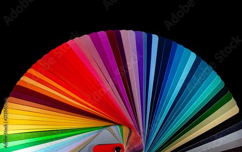 Fotografia Color palette - guide of paint samples catalog