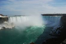Niagara Falls Under Rainbow In...