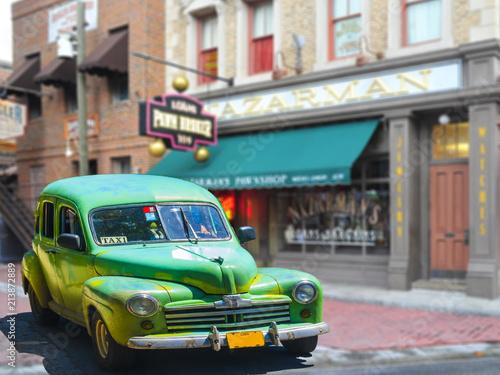 Poster de jardin Havana Cuban Taxi