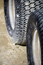 Close Up Of Two Tyres Or Tires...