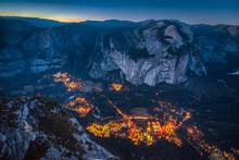 Yosemite Valley At Night, California, USA