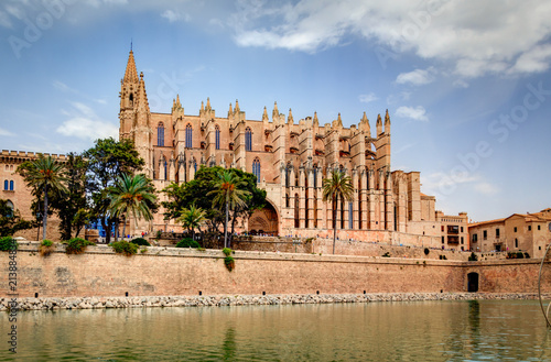 Staande foto Mediterraans Europa Gothic medieval cathedral of Palma de Mallorca, Spain