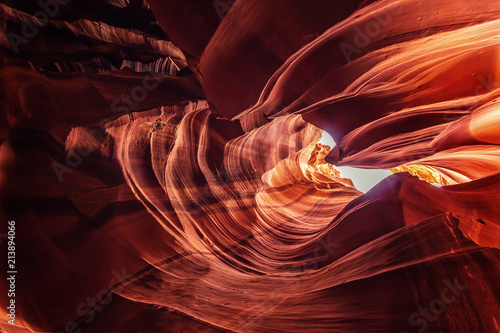 Upper Antelope Canyon on Navajo land near Page, Arizona, USA Canvas Print