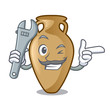 Mechanic amphora mascot cartoon style
