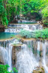 Panel Szklany Optyczne powiększenie Landscape Huai Mae Kamin waterfall