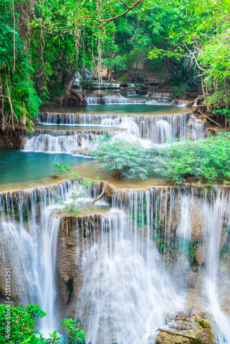 Photo Stands Waterfalls Landscape Huai Mae Kamin waterfall